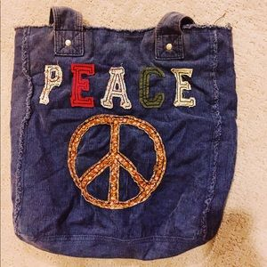 Handbags - 2FOR1: Peace Sign Tote Bag & Matching Wallet ✌